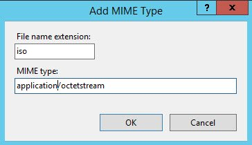 Add MIME type dialog box