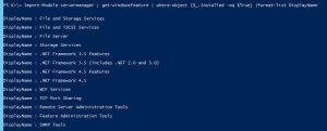 PowerShell Get-WindowsFeature Output