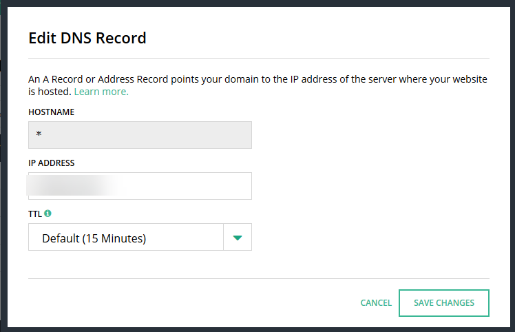 Hover- Edit DNS Records