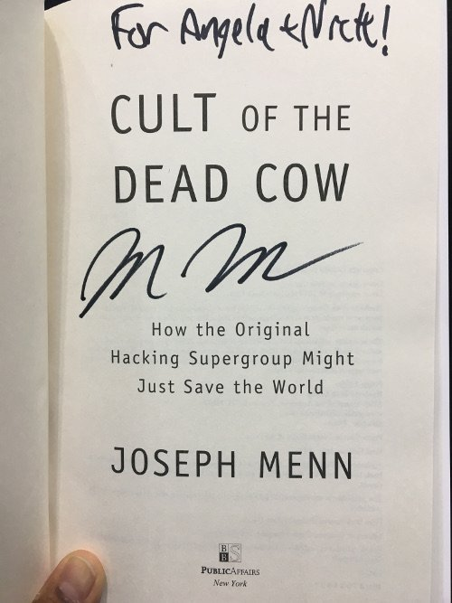 An autographed book