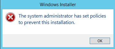 Window Error Dialog  box